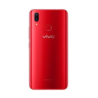 VIVO V9 Pro Smartphone - Red [64GB/ 6GB] + Free Kaos Kaik 7 Pasang
