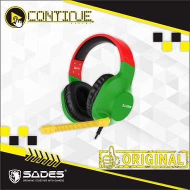 harga Headset Sades Ungu Spirits Multiplatform Hijau Blibli.com