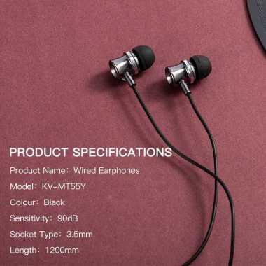 harga Headset Gaming handsfree BASIKE Earphone Bass Headphone 4D Drive Stereo Sound iPhone 13 12 11 10 8 6 7 MT55 black Blibli.com