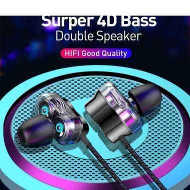 harga Headset Gaming handsfree BASIKE Earphone Bass Headphone 4D Drive Stereo Sound iPhone 13 12 11 10 8 6 7 BSK-MT90 black Blibli.com