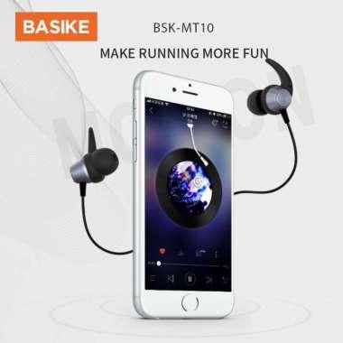 harga Headset Gaming handsfree BASIKE Earphone Bass Headphone 4D Drive Stereo Sound iPhone 13 12 11 10 8 6 7 MT10 black Blibli.com