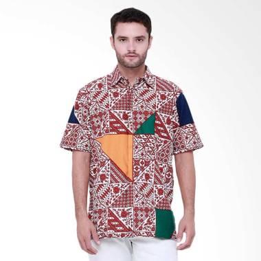 Days by Danar Hadi Tambal Modern Kemeja Batik Pria - Red