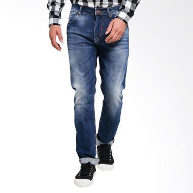 Bushido Straight Cut Jeans Celana Pria - Blue [BD17PA008RM]