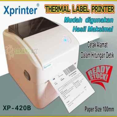harga Unik Printer Thermal Label Resi XPRINTER XP-420B Bluetooth  USB 100mm Berkualitas Blibli.com