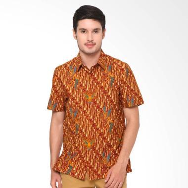 Asana Indawi Short Sleeves Slim Fit Kemeja Batik Pria