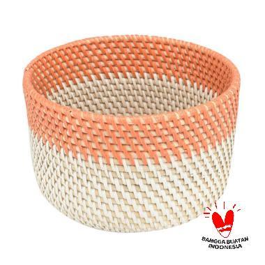 harga Kerajinan Lokal MJ Rotan Mangkuk - Orange White [Size S] Blibli.com