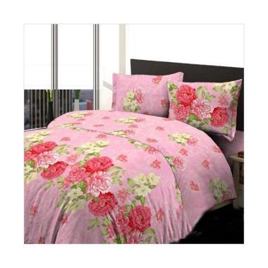 harga KING Bedsheet & Bedcover Motif Bunga Ikebana Pink Set Sprei Blibli.com