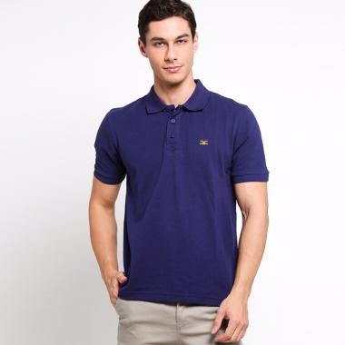 Carvil Man Polo Shirt Pria - Purple Navy [Blu-01B]