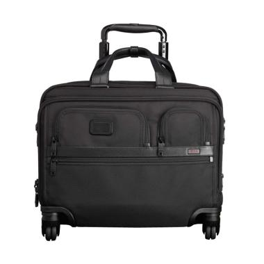 TUMI Alpha 2 4 Wheel Deluxe Brief with Laptop Case Koper