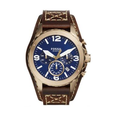 Fossil Jam Tangan Pria - Brown Blue [JR1505 Nate]