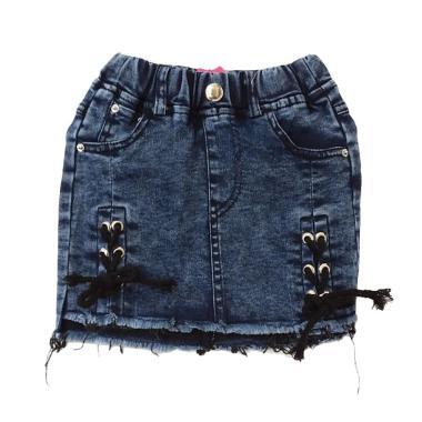 GBS Tie Up Denim Skirt Anak