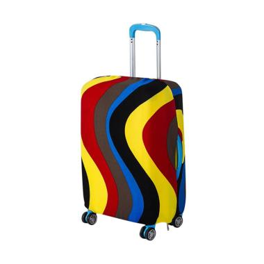 Homestuff Curve Luggage Cover Elast ... dung Koper Size M 22 Inch