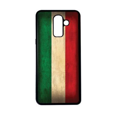 harga HEAVENCASE Motif Bendera Italia 17 Softcase Casing for Samsung Galaxy J8 - Hitam Blibli.com