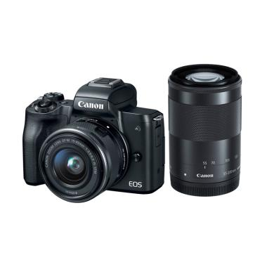 Canon EOS M50 Kamera Mirrorless wit ...  STM Lensa Kamera - Black