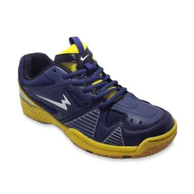 Eagle Marcus Sepatu Badminton Pria - Navy Yellow
