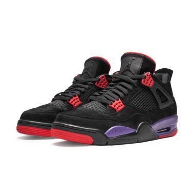 Nike Jordan 4 Retro Raptors Sepatu Basket - Black ef441863a5