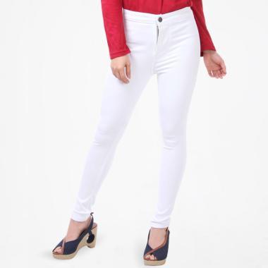 Jsk 1101 Putih Jeans Highwaist Skinny Celana Wanita m8wyvN0On