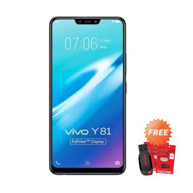 VIVO Y81 Smartphone - Black [16GB/ 3GB] + Free Flashdisk 16 GB