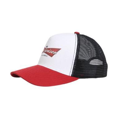 Tendencies Wizer Trucker Topi Pria - Red White 08e67ff8ce
