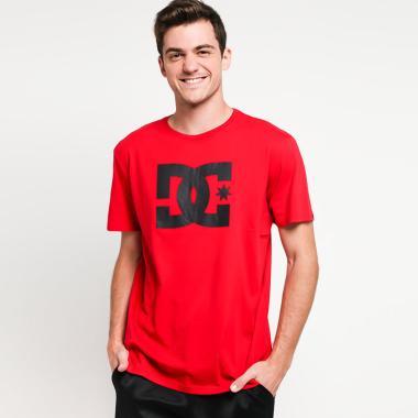 DC STAR SS ID M Tees T-Shirt Pria - Tango Red  RRH0  74b467b957