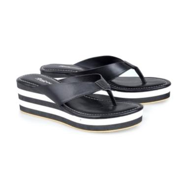 Spiccato SP 510.45 Kasual Sandal Wedges Wanita - Hitam