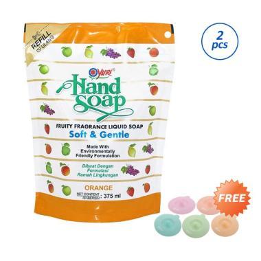 harga Yuri Orange Hand Soap [2 pcs/ 375 mL/ Pouch] + Free Tutup Gelas Blibli.com