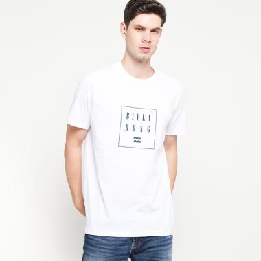 Billabong Never Stack Tee Kaos Pria - White 4997085368