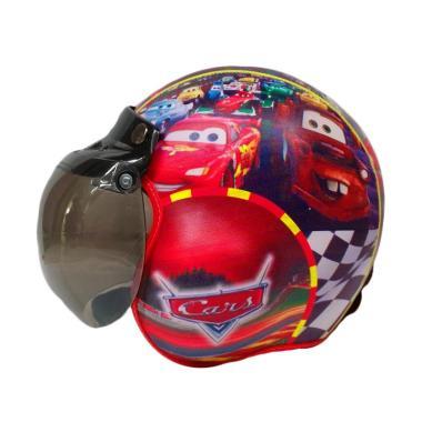 Broico Motif Pilot Cars Helm Anak [Usia 7-10 Tahun]