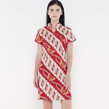 harga FBW Shanghai Imlek Batik Parang Kupu Dress Wanita Blibli.com