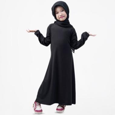 BajuYuli Polos Baju Muslim Gamis Anak Perempuan