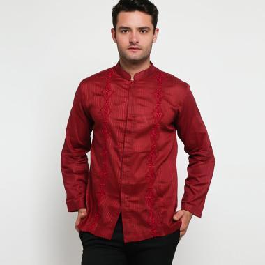 Batik Arjunaweda AW 5 Baju Koko Pria - Merah [97019016]