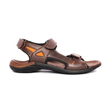 Cavallero Elvan 1 Sandal Pria - Dark Brown [CSL15401C17]