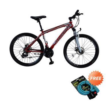 harga Element Format Sepeda MTB - Merah [26 Inch] + Free Kunci 2515 Blibli.com