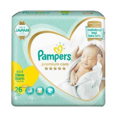 Pampers NB26 Premium Care Tape Diapers Popok Perekat Sekali Pakai [26 pcs]