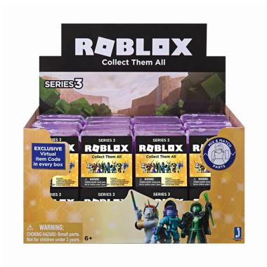 Roblox Surprise Blind Bag Series 3 Mystery Box Mini Figure - Purple [Satuan]