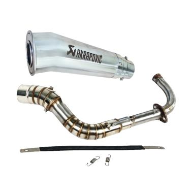 harga Akrapovic Megaphone Knalpot Racing Motor for Yamaha Mio Z - Silver Blibli.com