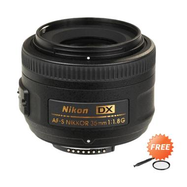 Nikon AF-S 35mm f1.8G DX Lensa Kamera + Free Filter UV + LensPen Universal -