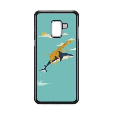 harga Acc HpBlack Friday Offer Giraffe Riding Shark E1379 Custome Casing for Samsung Galaxy A8 Plus 2018 Blibli.com