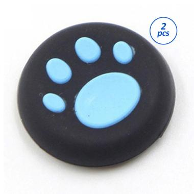 harga FS - Bluelans Cartoon Silicone Catlike Thumb Stick Grip Cap for PS3 PS4 Xbox One-360 - Blue [2 pcs] Blibli.com