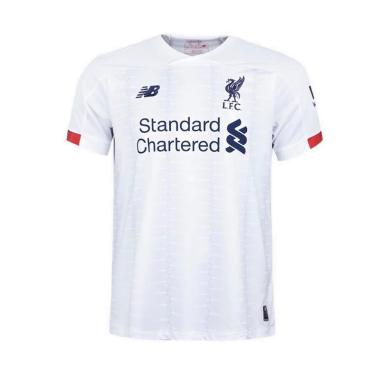 newest bd461 85380 New Balance 19/20 Liverpool FC Away Short Sleeve Jersey Baju Olahraga Pria