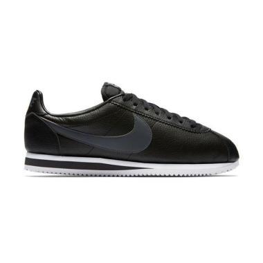 reputable site 6a59a 29197 NIKE Cortez Leather Sepatu Lari Pria - Black