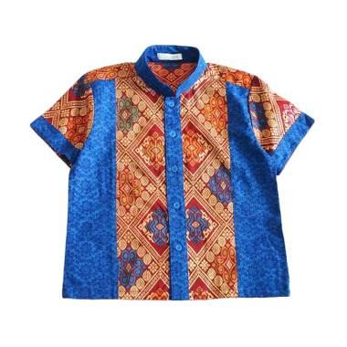 harga Ficalica FC18036 Cutevina Batik Kombinasi Kemeja Anak Laki-Laki 11-12 tahun biru motif Blibli.com