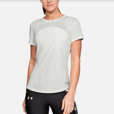 UNDER ARMOUR Women Training Speed Stride Sport Mesh Short Sleeve Tee Baju Olahraga Wanita [1326464-112] M -