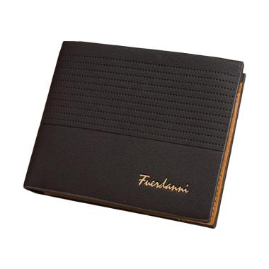 harga Fuerdanni Men's Vintage Faux Leather Bifold Purse ID Card Holder Multi-Slot Clutch Wallet Blibli.com