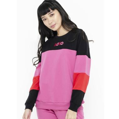 Colorbox I-Stkfct119F001 Colorblocking Sweatshirt Wanita - Pink