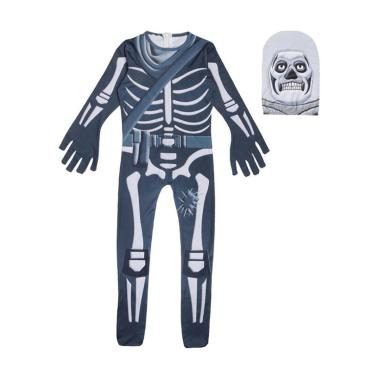 harga Kids Halloween Skeleton Fortnite Party Show Performance Cosplay Costume Bodysuit Skull Trooper Jonesy Blibli.com