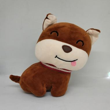 harga OEM Boneka Brown Dog with Red Collar Doll Blibli.com