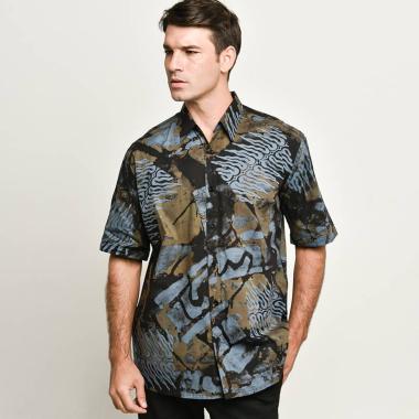 harga Blitique X Oemah Etnik Batik Chop Short Sleeve Shirt D3 Grey Blibli.com