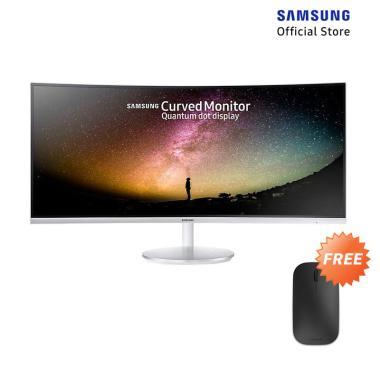 harga Samsung LC34F791WQEXXD Premium Curved Monitor [34 inch] + Free Microsoft Designer Bluetooth Mouse Blibli.com