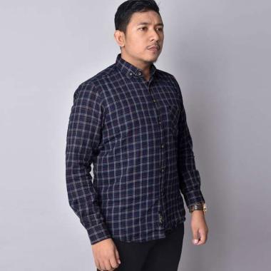harga Bsg_fashion1 Flanel Casual Kemeja Lengan Panjang Pria [6334] Blibli.com